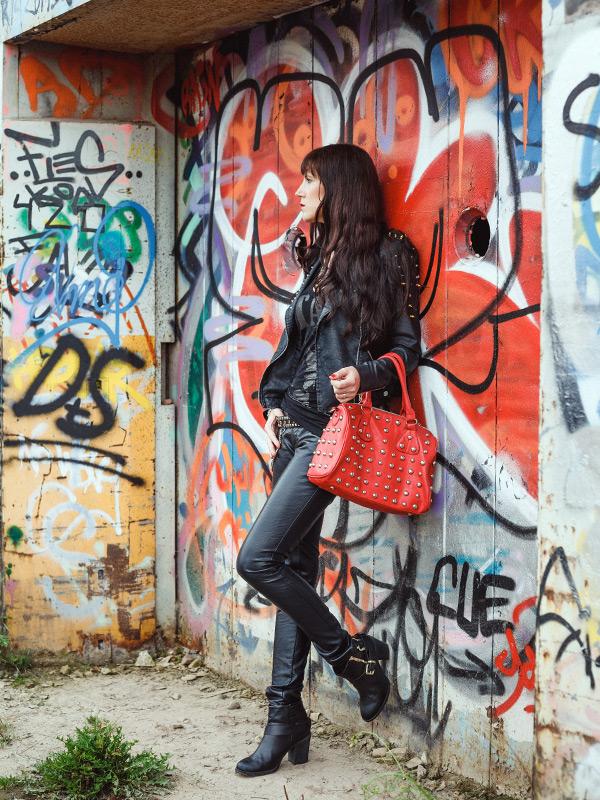 Rock Chic Leder Outfit