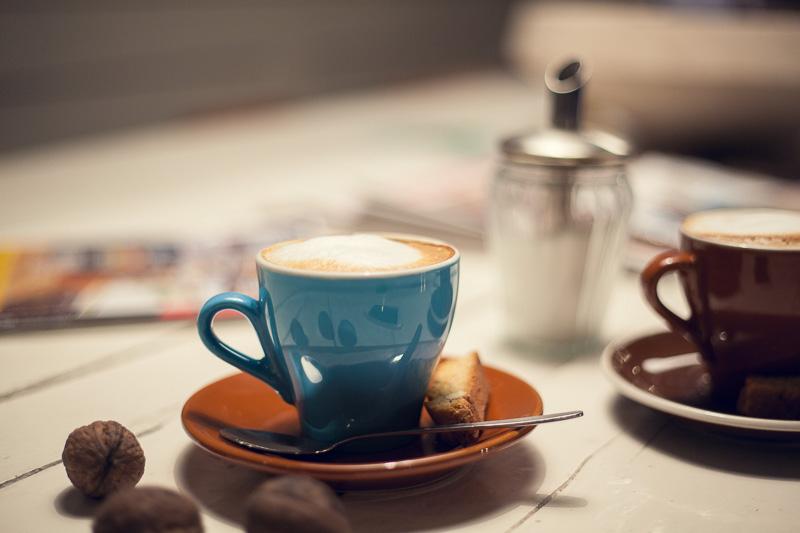 Bild Café, Kaffee trinken, Herbst, cosy Winter